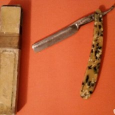 Antigüedades: NAVAJA AFEITAR N°14 DROGUERÍA ALBIZO ( ESTELLA ). Lote 147528198