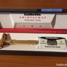 Antigüedades: GILLETTE ARISTOCRAT ADJUSTABLE RAZOR. Lote 147562354