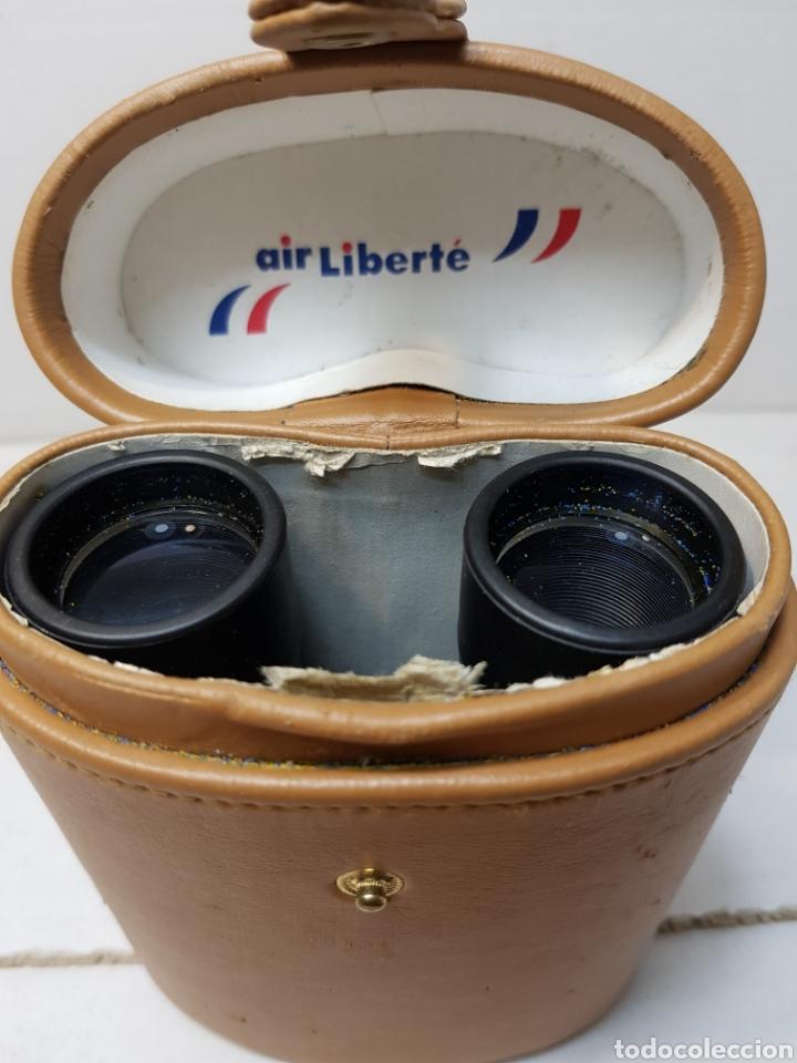 Antigüedades: Prismáticos antiguos publicidad Air Liberté muy raros en funda original - Foto 5 - 147616172