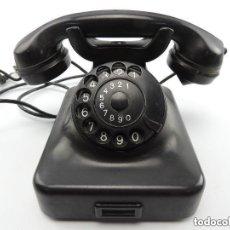 Teléfonos: ANTIGUO TELÉFONO DE BAQUELITA NEGRO AÑOS 30 - 40 BUEN ESTADO EXCELENTE PIEZA DE DECORACIÓN. Lote 147658710