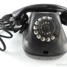 Teléfonos: ANTIGUO TELÉFONO DE BAQUELITA NEGRO AÑOS 60 VINTAGE AUTENTICO EXCELENTE PIEZA DE DECORACIÓN. Lote 147658806