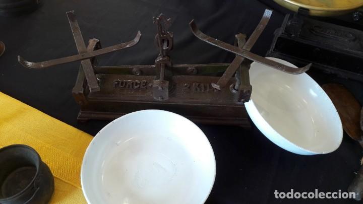 Antigüedades: peso,s , balanza,s , de platos , platillos - Foto 4 - 147661030