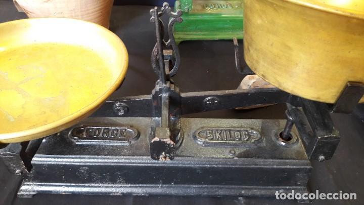 Antigüedades: peso,s , balanza,s , de platos , platillos - Foto 2 - 147661086