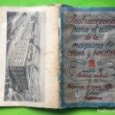 Antigüedades: INSTRUCCIONES PARA EL USO DE LA MAQUINA DE COSER ALFA MODELO B DE BOBINA CENTRAL. Lote 147680678