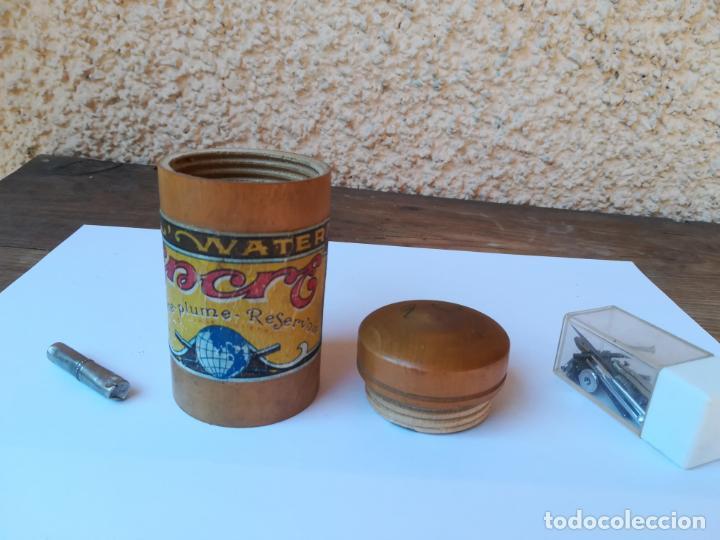 Antiquitäten: Contenedor de madera para tintero - Foto 2 - 147697150