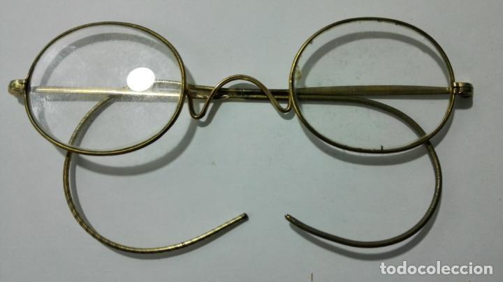 ANTIGUAS GAFAS GRADUADAS, FUNDA DE PIEL (Antigüedades - Técnicas - Instrumentos Ópticos - Gafas Antiguas)