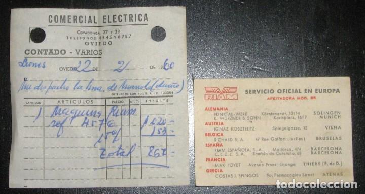 Antigüedades: MAQUINILLA DE AFEITAR ELÉCTRICA PARA COCHE A 6/12 VOLTS. RIAM, BARCELONA,1960. CAJA E INSTRUCCIONES. - Foto 11 - 147841914