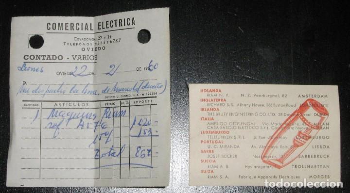 Antigüedades: MAQUINILLA DE AFEITAR ELÉCTRICA PARA COCHE A 6/12 VOLTS. RIAM, BARCELONA,1960. CAJA E INSTRUCCIONES. - Foto 12 - 147841914