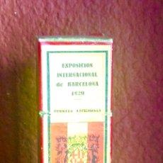 Antigüedades: CAJA CON CINCO CRISTALES NEGATIVOS PARA VISORES FERIA INTERNACIONAL 1929 DE BARCELONA. Lote 147845376