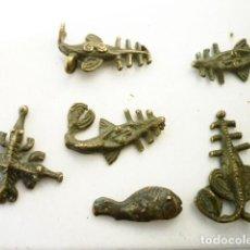 Antigüedades: PONDERALES AFRICANOS EN BRONCE , PESAS ZOOMORFAS ANIMALES FANTÁSTICOS RAROS. Lote 147864574