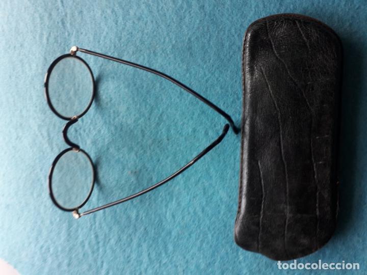 Antigüedades: Antiguas Gafas con Funda de Piel. - Foto 4 - 147888082