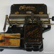 Antigüedades: MAQUINA DE ESCRIBIR MIGNON MODELL 2 .. Lote 147899462