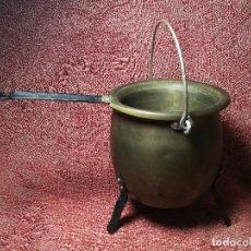 Antigüedades: OLLA PUCHERO PARA CALENTAR COLA -CERA BAÑO MARIA-EBANISTAS CARPINTEROS.APICULTORES..AÑOS 30 NUEVO. Lote 147933862