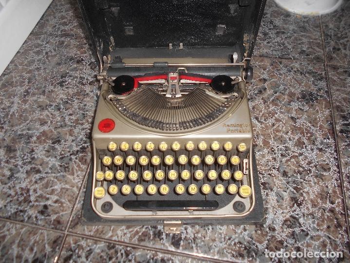 ANTIGUA MAQUINA DE ESCRIBIR PORTATIL REMINGTON PORTABLE CREO MODELO 5 FUNCIONANDO (Antigüedades - Técnicas - Máquinas de Escribir Antiguas - Remington)