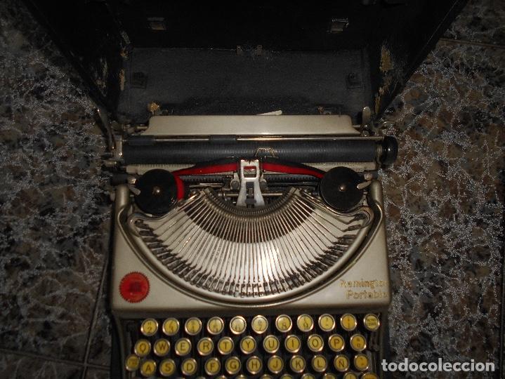 Antigüedades: Antigua maquina de escribir portatil Remington Portable CREO MODELO 5 FUNCIONANDO - Foto 6 - 148023942