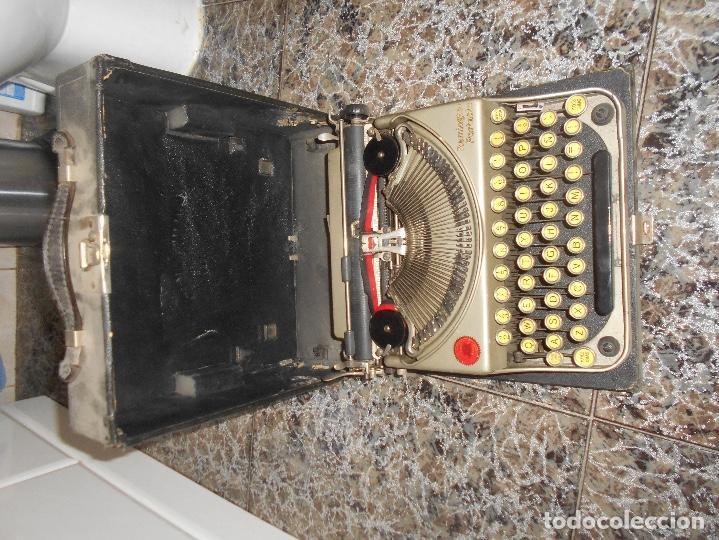 Antigüedades: Antigua maquina de escribir portatil Remington Portable CREO MODELO 5 FUNCIONANDO - Foto 7 - 148023942