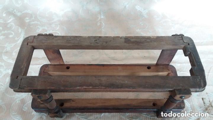 Antiquitäten: Pareja de habitáculos para cajones de mesa de máquina de coser y un cajón, ppios XX - Foto 19 - 148037562