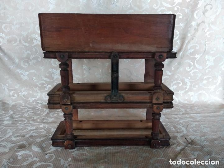 Antiquitäten: Pareja de habitáculos para cajones de mesa de máquina de coser y un cajón, ppios XX - Foto 22 - 148037562