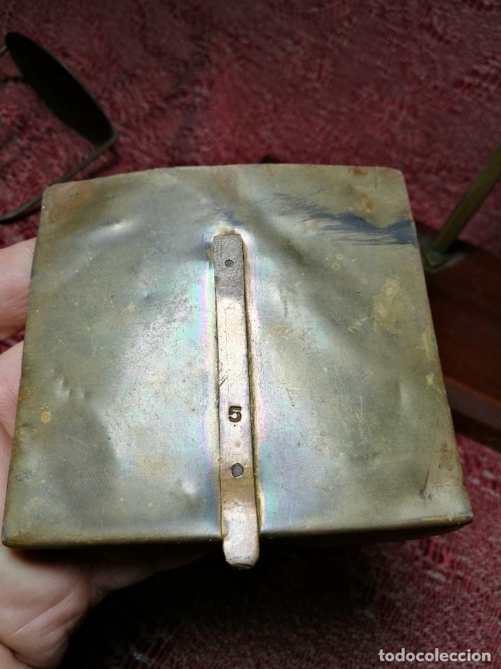 Antigüedades: antigua bascula balanza bronce de precision farmacia 1967 firmada satish toweigh 117 gr..class c - Foto 13 - 148165078