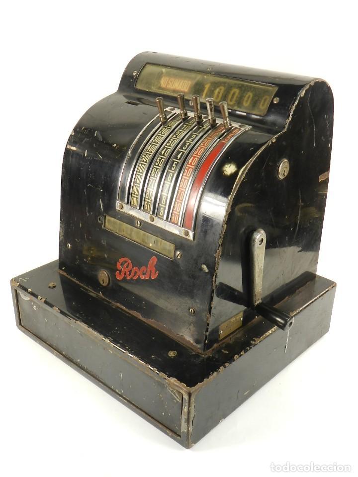 CAJA REGISTRADORA ROCH AÑO 1950 (Antigüedades - Técnicas - Aparatos de Cálculo - Cajas Registradoras Antiguas)