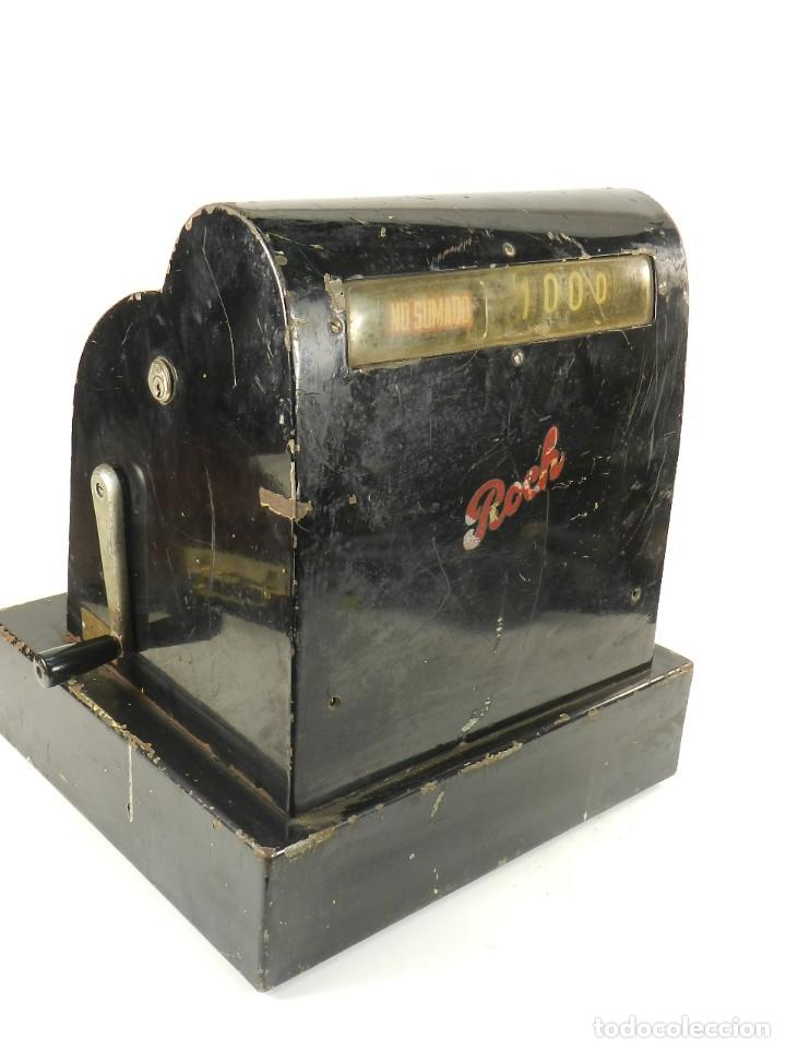 Antigüedades: CAJA REGISTRADORA ROCH AÑO 1950 - Foto 7 - 148235778