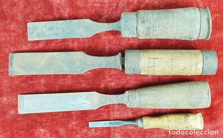 Antigüedades: CONJUNTO DE HERRAMIENTAS DE CARPINTERÍA Y EBANISTERÍA. SIGLO XIX-XX - Foto 11 - 148259278