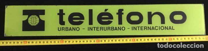Teléfonos: Antiguo cartel de metacrilato, de cabina telefónica española, en muy buen estado de conservación - Foto 5 - 148262630