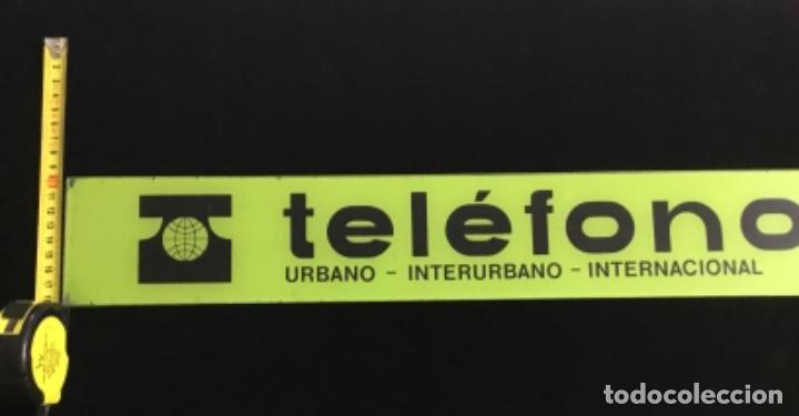 Teléfonos: Antiguo cartel de metacrilato, de cabina telefónica española, en muy buen estado de conservación - Foto 6 - 148262630