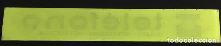 Teléfonos: Antiguo cartel de metacrilato, de cabina telefónica española, en muy buen estado de conservación - Foto 7 - 148262630