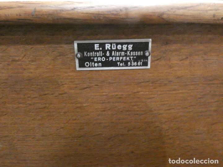 Antigüedades: Antigua caja registradora Alemana, Olten. Timbre que hace de alarma y clave secreta de apertura. - Foto 5 - 148294842