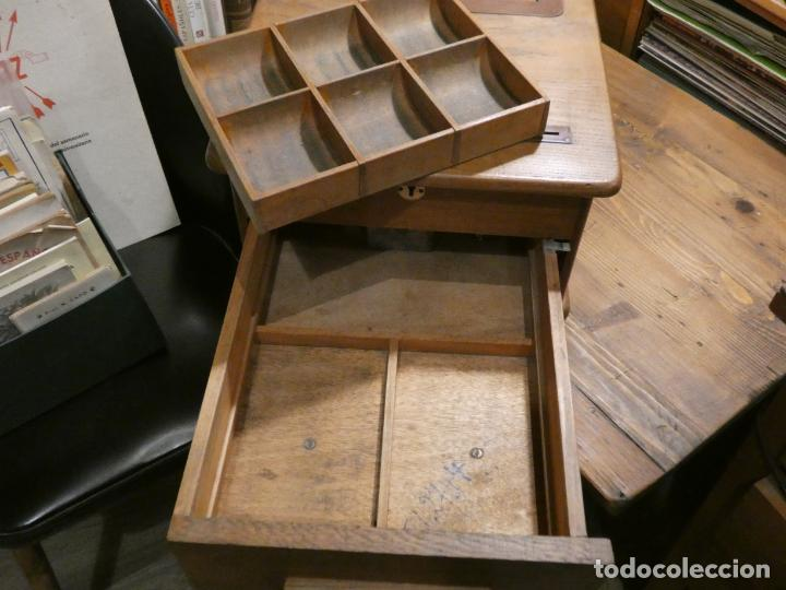 Antigüedades: Antigua caja registradora Alemana, Olten. Timbre que hace de alarma y clave secreta de apertura. - Foto 10 - 148294842