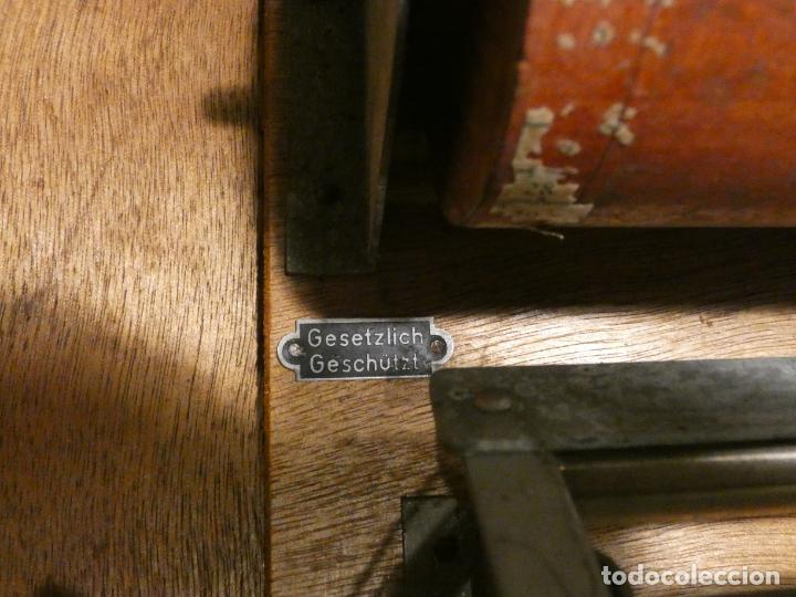 Antigüedades: Antigua caja registradora Alemana, Olten. Timbre que hace de alarma y clave secreta de apertura. - Foto 13 - 148294842
