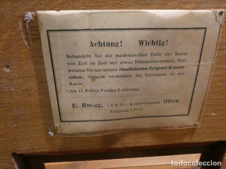 Antigüedades: Antigua caja registradora Alemana, Olten. Timbre que hace de alarma y clave secreta de apertura. - Foto 14 - 148294842