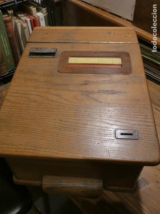 Antigüedades: Antigua caja registradora Alemana, Olten. Timbre que hace de alarma y clave secreta de apertura. - Foto 15 - 148294842