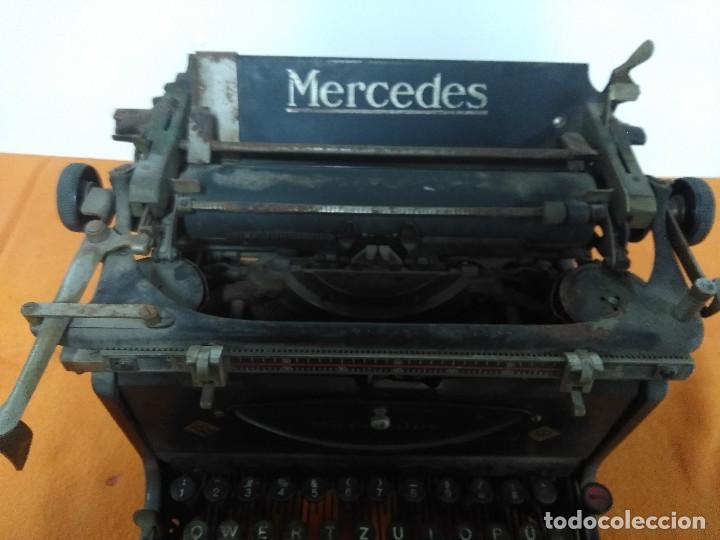 Antigüedades: ANTIGUA MÁQUINA DE ESCRIBIR MERCEDES - Foto 2 - 148301682