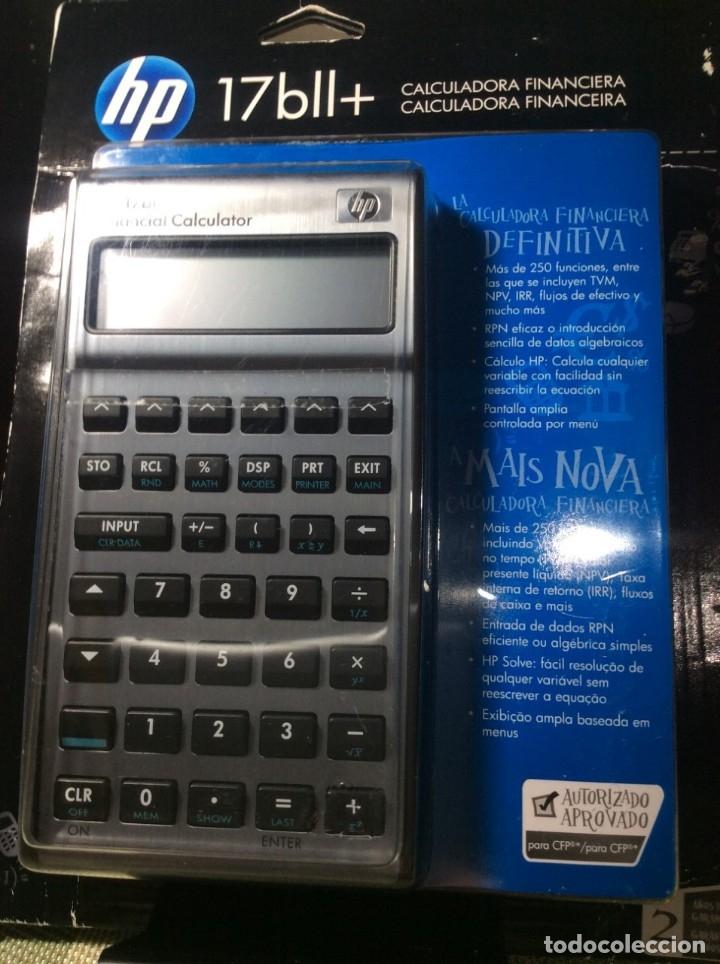 CALCULADORA HP 17 B II FINANCIERA ¡ NUEVA ! HP 17B (Antigüedades - Técnicas - Aparatos de Cálculo - Calculadoras Antiguas)