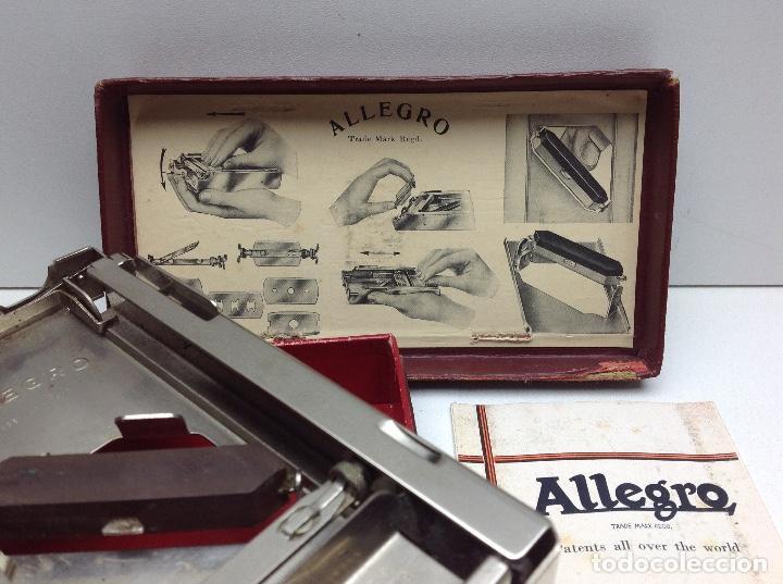 Antigüedades: AFILADOR HOJAS DE AFEITAR ALLEGRO - FABRICADO EN SUIZA - Foto 2 - 148398690