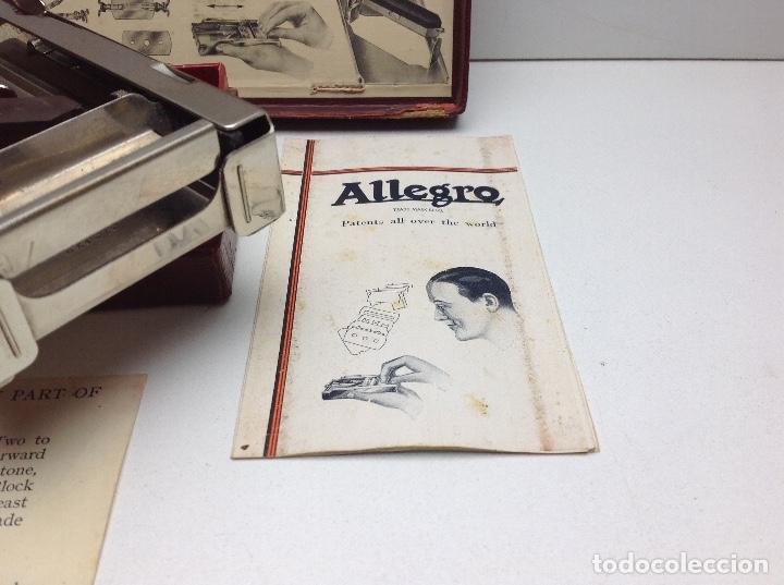 Antigüedades: AFILADOR HOJAS DE AFEITAR ALLEGRO - FABRICADO EN SUIZA - Foto 3 - 148398690