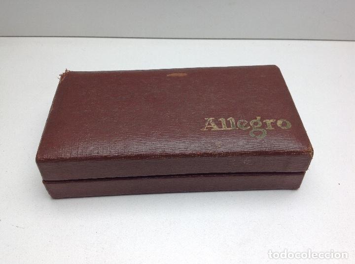 Antigüedades: AFILADOR HOJAS DE AFEITAR ALLEGRO - FABRICADO EN SUIZA - Foto 9 - 148398690