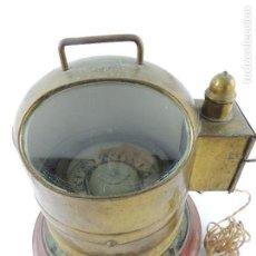Antigüedades: ANTIGUA BITACORA NAVAL ESCOCESA KELVIN & JAMES WHITE EXCELENTE PIEZA DE DECORACION O COLECCION. Lote 148412082
