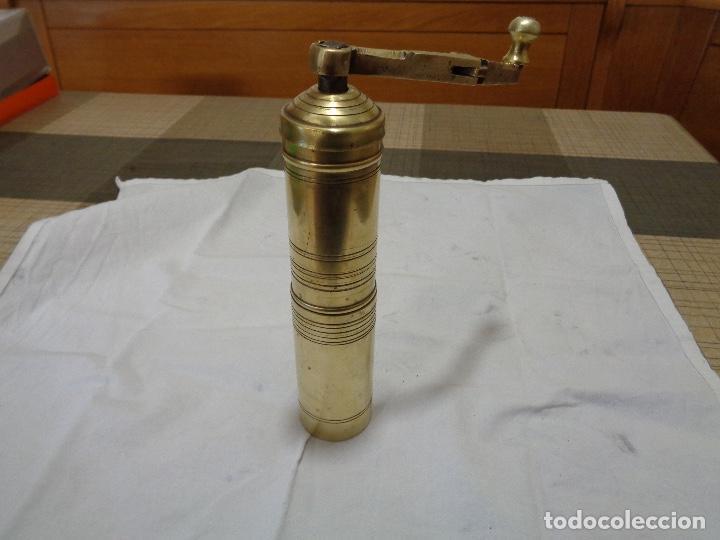 Antigüedades: Molinillo o molino de café en bronce años 40 - Foto 4 - 148462802