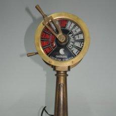 Antigüedades: ESPECTACULAR TELÉGRAFO DE BARCO ANTIGUO CHADBURN LIVERPOOL INGLESA BRONCE . Lote 148474550