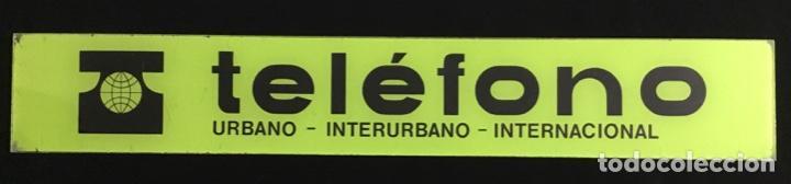 Teléfonos: Antiguo cartel de metacrilato, de cabina telefónica española, en muy buen estado de conservación - Foto 2 - 148262630