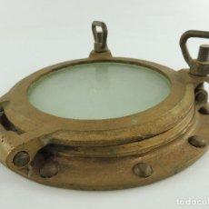 Antigüedades: GRAN OJO DE BUEY - VENTANA DE BARCO EN BRONCE 31 CM EXCELENTE PIEZA DE DECORACION. Lote 148539522