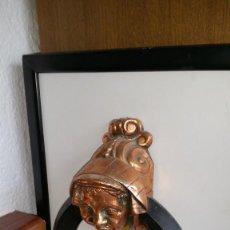 Antigüedades: ANTIGUO LLAMADOR EN HIERRO FORJADO Y BRONCE FORJA. Lote 148569810