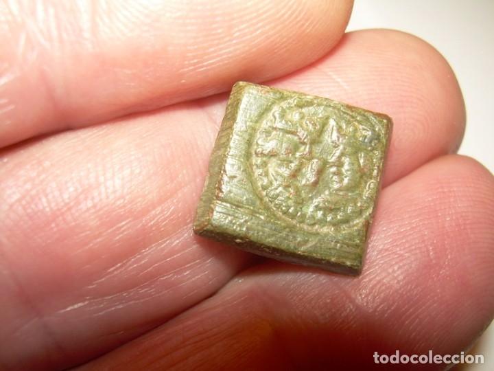 Antigüedades: ANTIGUO PONDERAL DE BRONCE...REYES CATOLICOS. - Foto 11 - 148590510
