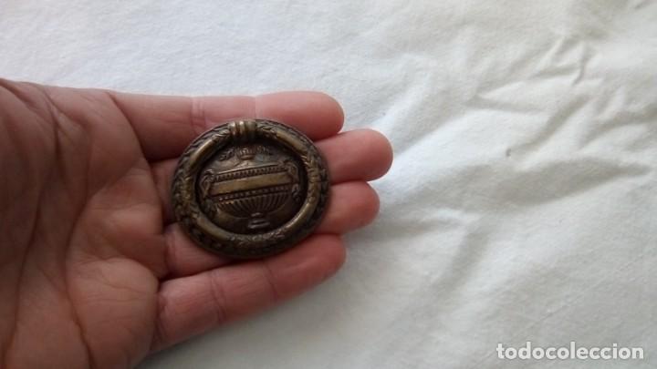 Antigüedades: Lote de 6 tiradores plegables de latón - Foto 3 - 148643846