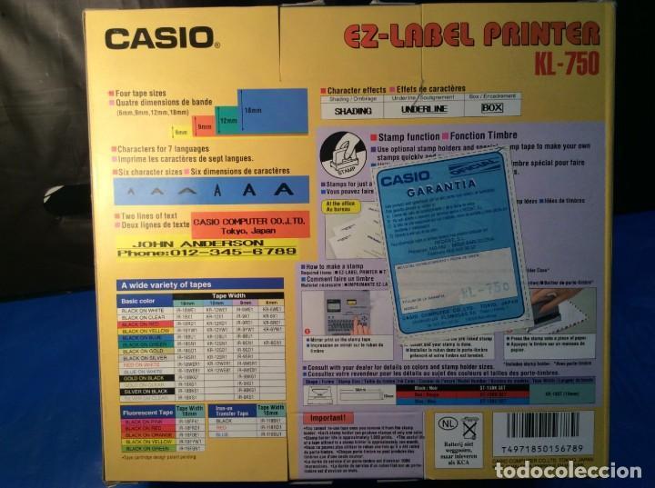 Antigüedades: CALCULADORA CASIO KL 750 ¡¡ETIQUETADO!! ¡¡NUEVO!! (VER FOTOS) - Foto 5 - 148690346