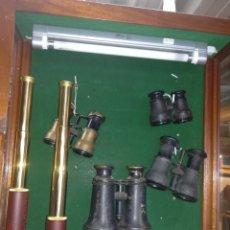 Antigüedades: COLECCIÓN DE PRISMÁTICOS Y CATALEJOS. Lote 148855505