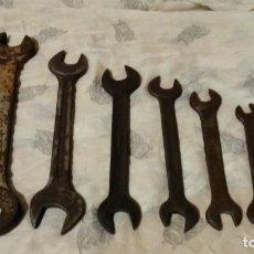 Antigüedades: JUEGO LLAVES FIJAS. HERRAMIENTAS VIEJAS.. Lote 148904754